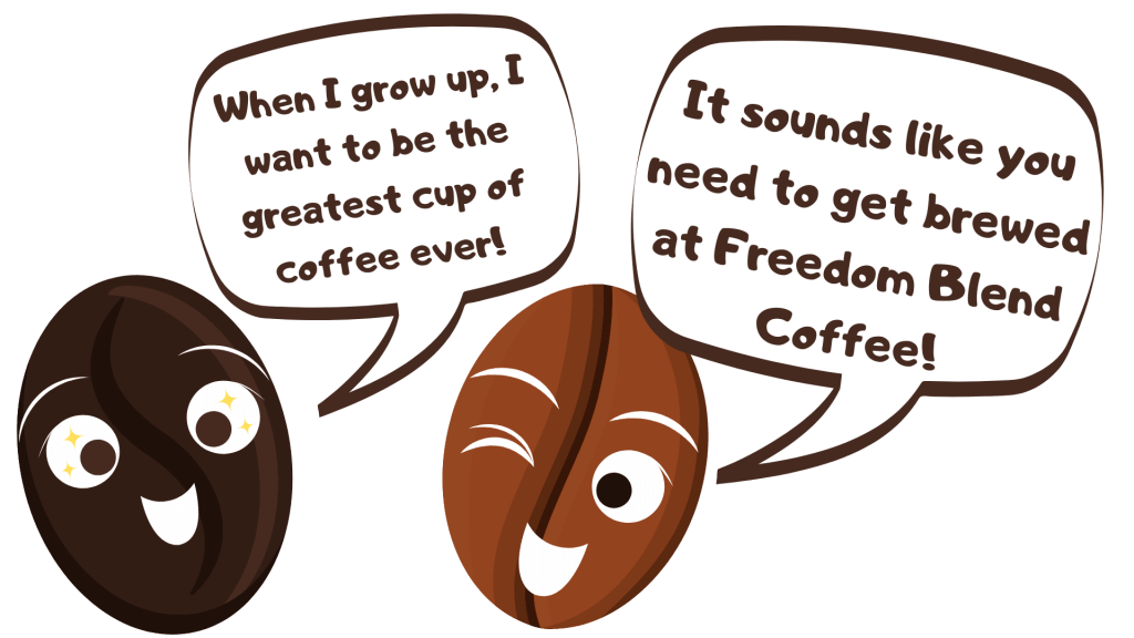 Two coffee beans comic